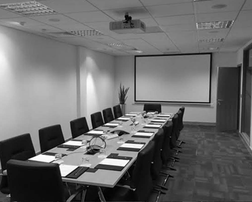 Digicom Allegion Case study integrated boardroom presentation solutions