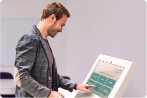 Visitor Management System digital kiosk