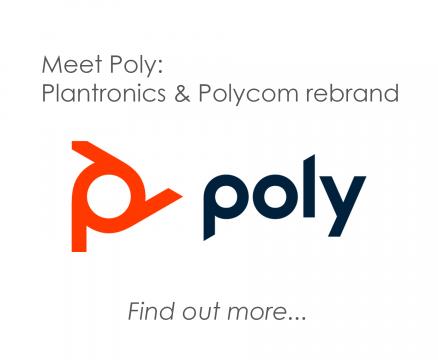 Meet Poly: Plantronics and Polycom rebrand