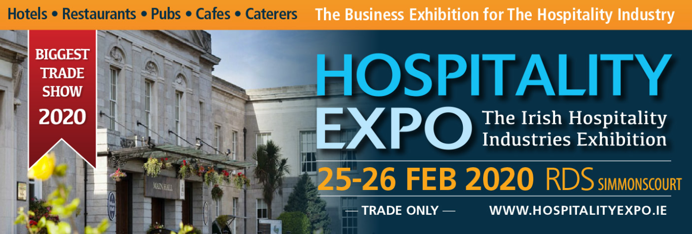 Come and say hello at the Hospitality Expo on 25 and 26 February!