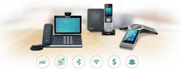 Yealink desktop phones, DECT phones and conference phones